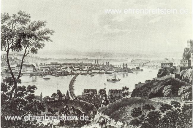 Schiffbruecke um 1825